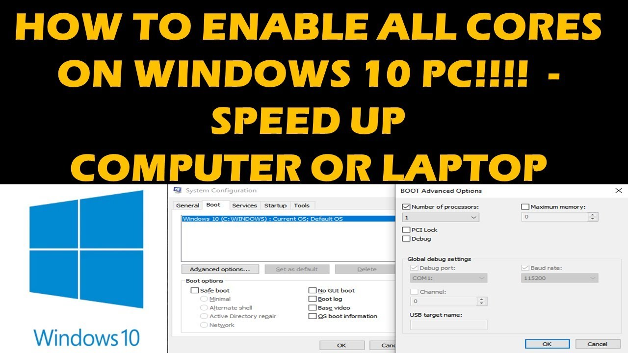 HOW TO ENABLE ALL CORES IN WINDOWS 10