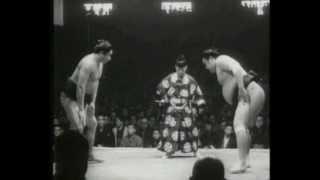 Dewanishiki vs. Wakanohana : Haru 1957 (出羽錦 対  若ノ花)