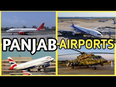 Airports in Punjab(पंजाब के हवाई अड्डे) || Punjab Airports List || International Airports of Punjab