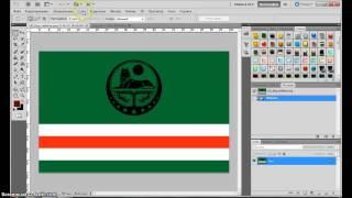 photoshop - Создание 3D флага