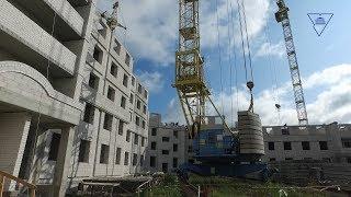 Строительство нового общежития ГрГУ имени Янки Купалы. Сентябрь 2019