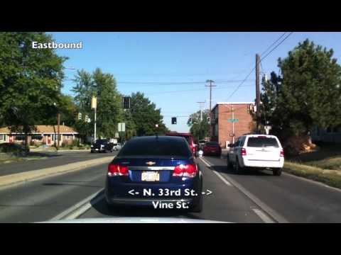 Car Camera - Lincoln, NE - North Bottoms To University Place South . 2012 ( ネブラスカ州リンカーン市 )