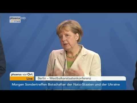 Westbalkanstaaten-Konferenz: Merkel, Barroso & Rama über EU-Perspektiven am 28.08.2014