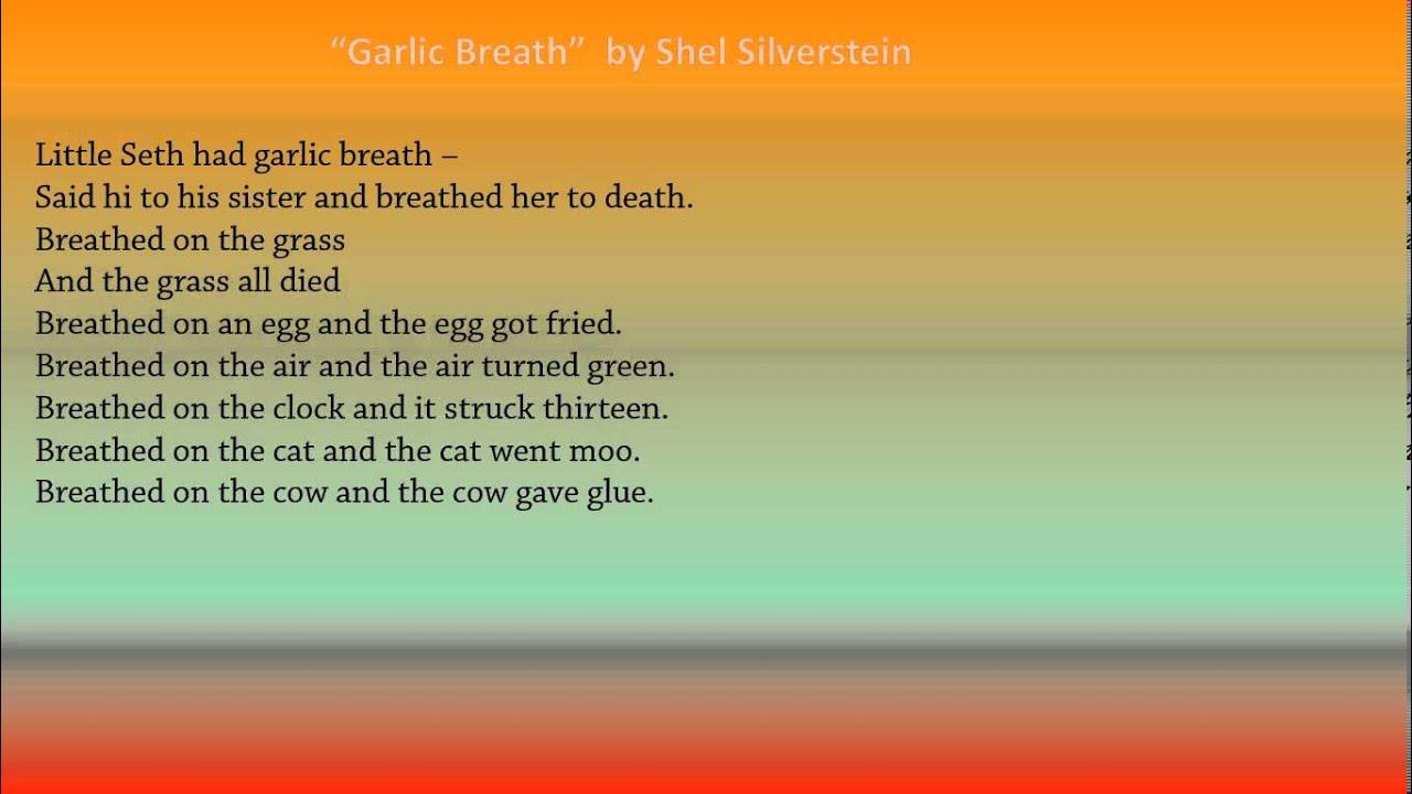 Garlic Breath by Shel Silverstein - YouTube