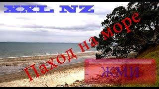 Поход Море Бухты Речка Пляжы Обрывы Окленд Новая Зеландия HD