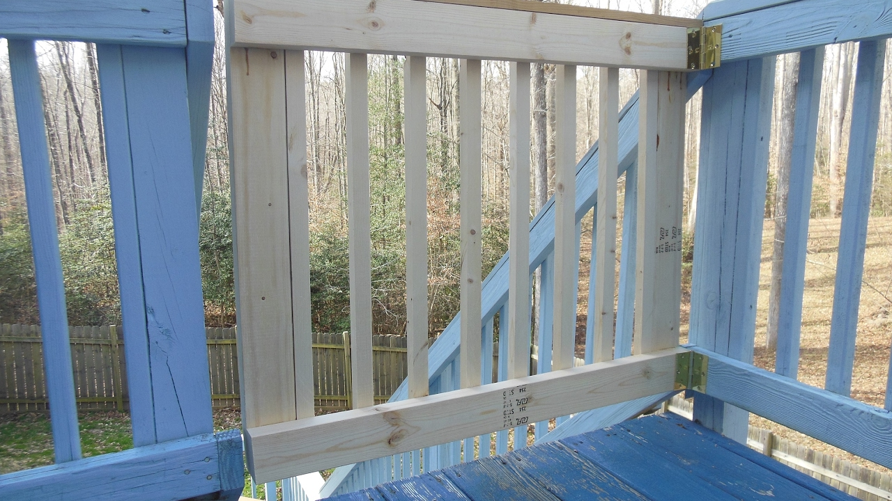 porch watch sliding youtube deck dogs gate for