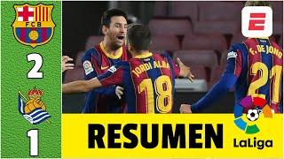 Barcelona 2-1 Real Sociedad. Goles de Jordi Alba y Frenkie de Jong. Ter Stegen, salvador | LaLiga