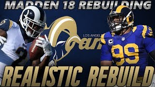Madden 18 Connected Franchise | Los Angeles Rams Realistic Rebuild | Is Jared Goff The Answer? 2017 Video