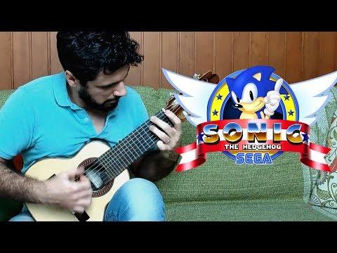 Green Hill Zone (Sonic) - Mini Guitar (Marcos Kaiser)