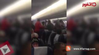 «خناقة في الجو» على متن طائرة مصرية بسبب راكب سكران (اتفرج)
