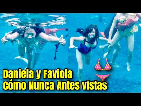 Wouw Mira Como Lucen Daniela y Faby Bajo el Agua