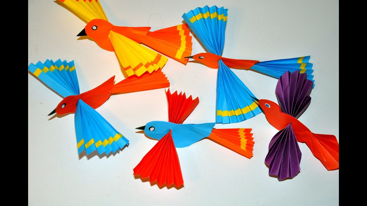 Ptaki Z Papieru Paper Birds Diy Youtube
