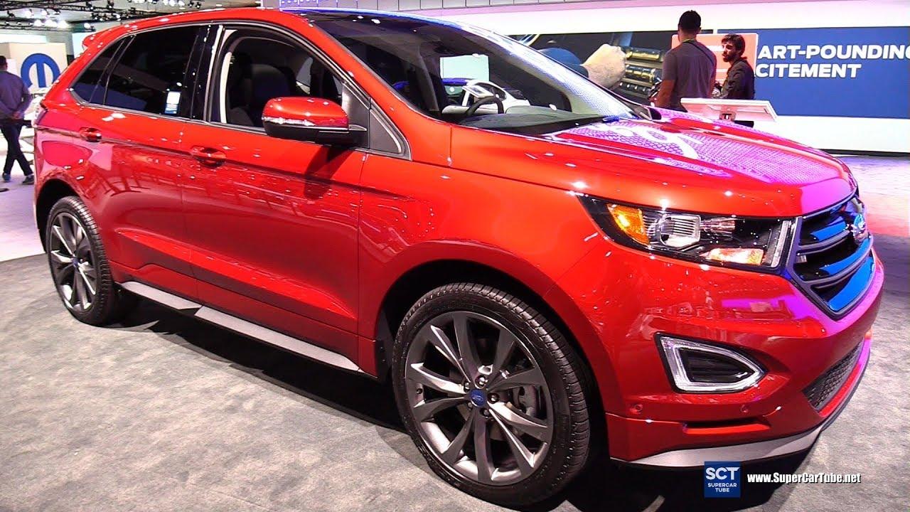 2018 Ford Edge Sport Exterior And Interior Walkaround 2017 La Auto Show