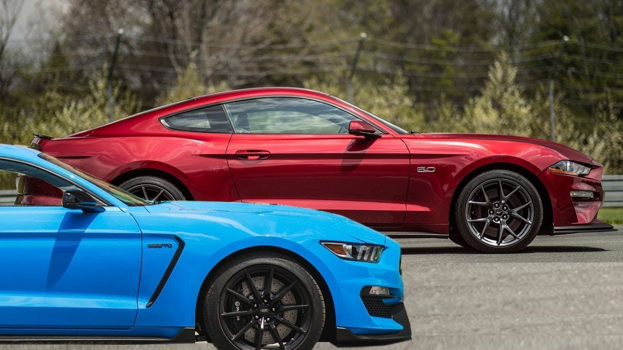 2018 ford mustang gt performance pack 2 vs ford mustang shelby gt350