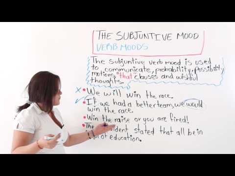 English Lesson: Verb Moods -- The Subjunctive Mode