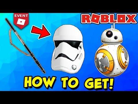 [EVENT] HOW TO GET STORMTROOPER HELMET, REY'S STAFF & BB-8 - Roblox Creator Challenge Star Wars