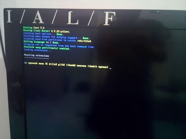 Raspberry Pi] Installing piCore 9 0 – Everything