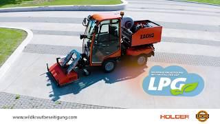 Umweltschonende Wildkrautbeseitigung - ZACHO UKB und Holder X45 komplett auf Autogas-LPG umgebaut