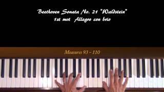 Download lagu Beethoven Waldstein 1st mvt Piano Tutorial Part 2