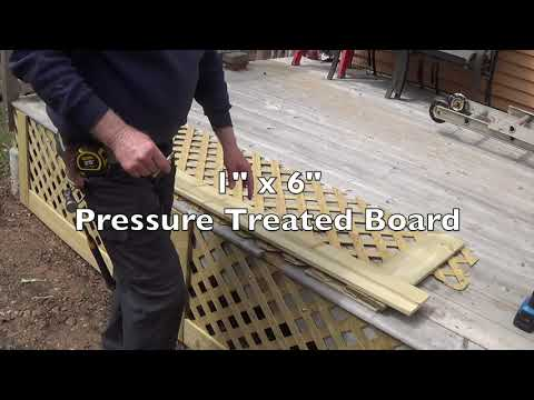 DIY - How To Attach Pressure Treated Lattice To A Deck