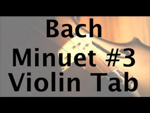 Learn Minuet No. 3 Ver 2 on Violin - How to Play Tutorial