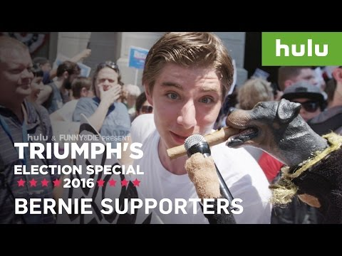 Bernie Sanders Supporters At The DNC • Triumph on Hulu