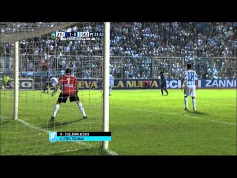 Gol de Acosta. Atl. Tucumán 1 - Gimnasia (J) 0. Fecha 37. Primera B Nacional 2015. FPT.