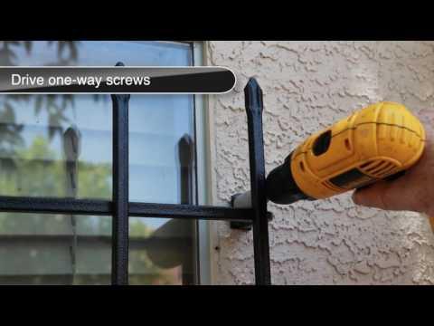 Vertical Window Guard installation