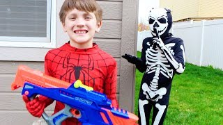 Spiderman Saves The Nerf Nitro Pack - BeaheroKids