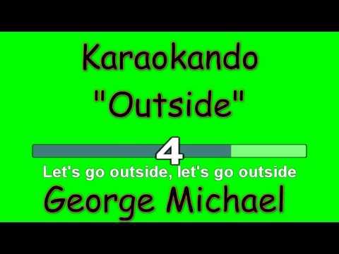 Karaoke Internazionale - Outside - George Michael ( Lyrics )