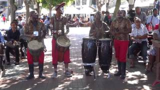 African music and dancing at the V&A Waterfront, Cape Town, South Africa