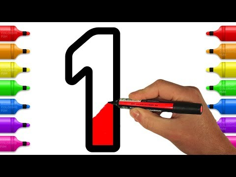 Learn and Color Numbers from 1 - 10 Coloring Book | Learn Colors for Kids