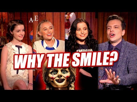 Why does ANNABELLE Smile? Mckenna Grace, Madison Iseman, Katie Sarife Talk ANNABELLE COMES HOME