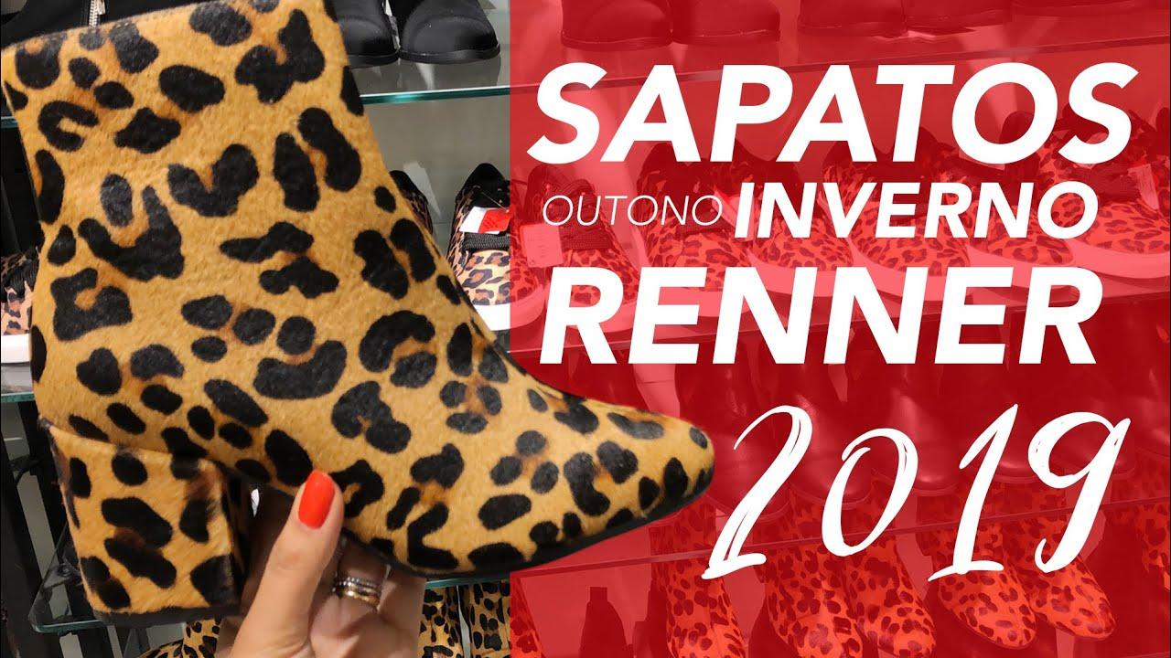 2613d39ad OUTONO INVERNO 2019 SAPATOS FEMININOS da RENNER com PREÇOS - Vício ...