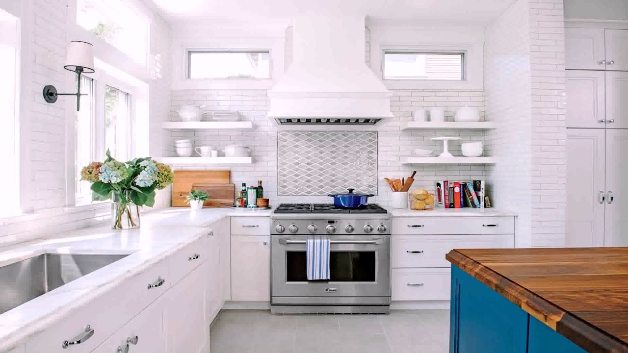 Small U Shaped Kitchen White Cabinets Youtube