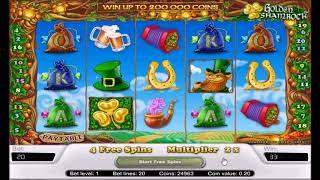 видео Играть онлайн в Golden Shamrock - игровой аппарат Золотой Трилистник
