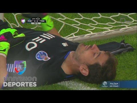 Iker Casillas no logra evitar un golazo con el que el Tondela derrota al Porto