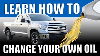 Learn how to change oil in Toyota Tundra (in under 4 minutes)
