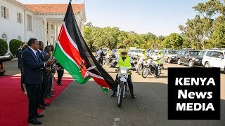 UHURU KENYATTA FLAGS OFF VEHICLES AND MOTORCYCLES FOR INUA JAMII PROGRAMME!!!