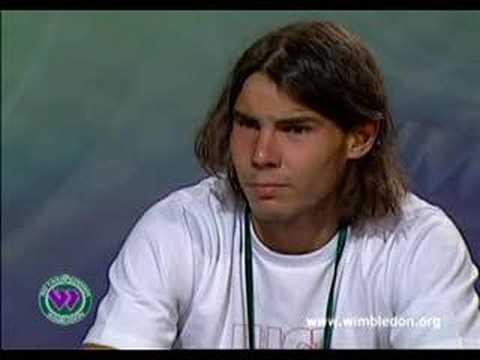 Rafa's interview after wimbledon 2007