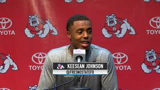 Fresno State Football: Keesean Johnson (Post-Game, vs. Nevada, 9/30/17)