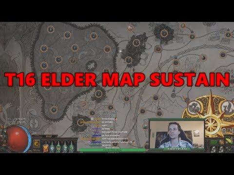 PoE Sustaining Tier 16 Elder maps with perma ElderShaper influence