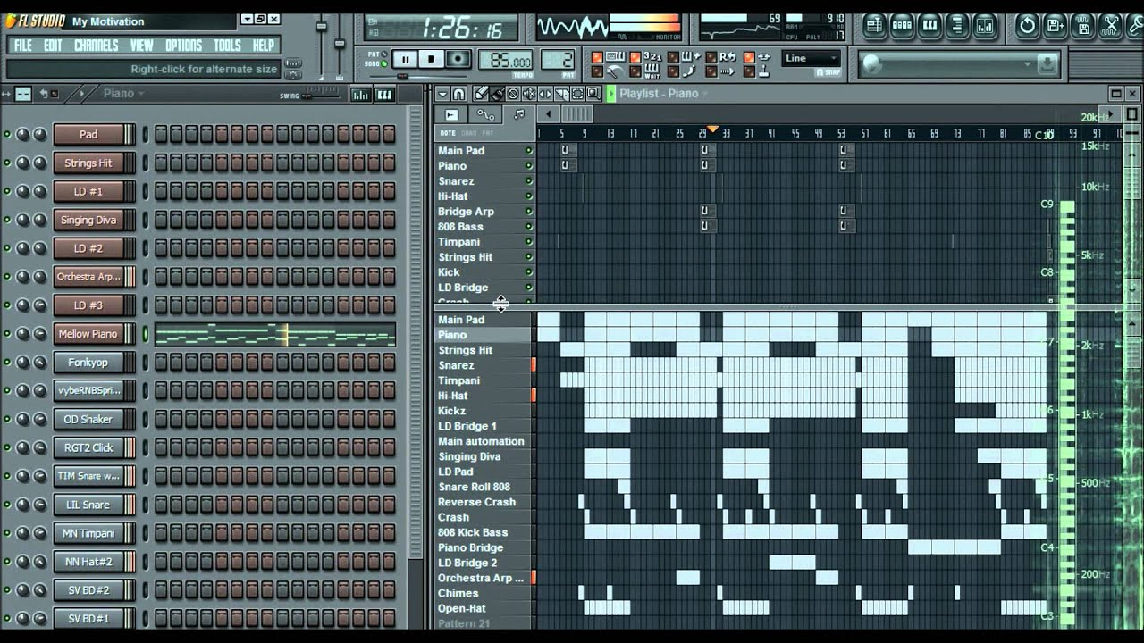 Gambeat - FL Studio 9 - Motivational Hip Hop Beat 2012 (With Free Download  Link) HD