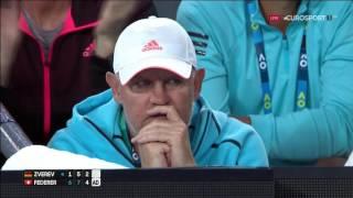 Roger Federer SABR Against the Net Player Mischa Zverev in Australian Open 2017