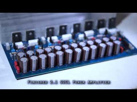 DIY + Test 1000W Super OCL 504 2.1 Channel Speakers High Power Amplifier - PCBWay