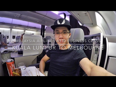 Malaysia Airlines A330 Business Class Kuala Lumpur to Melbourne