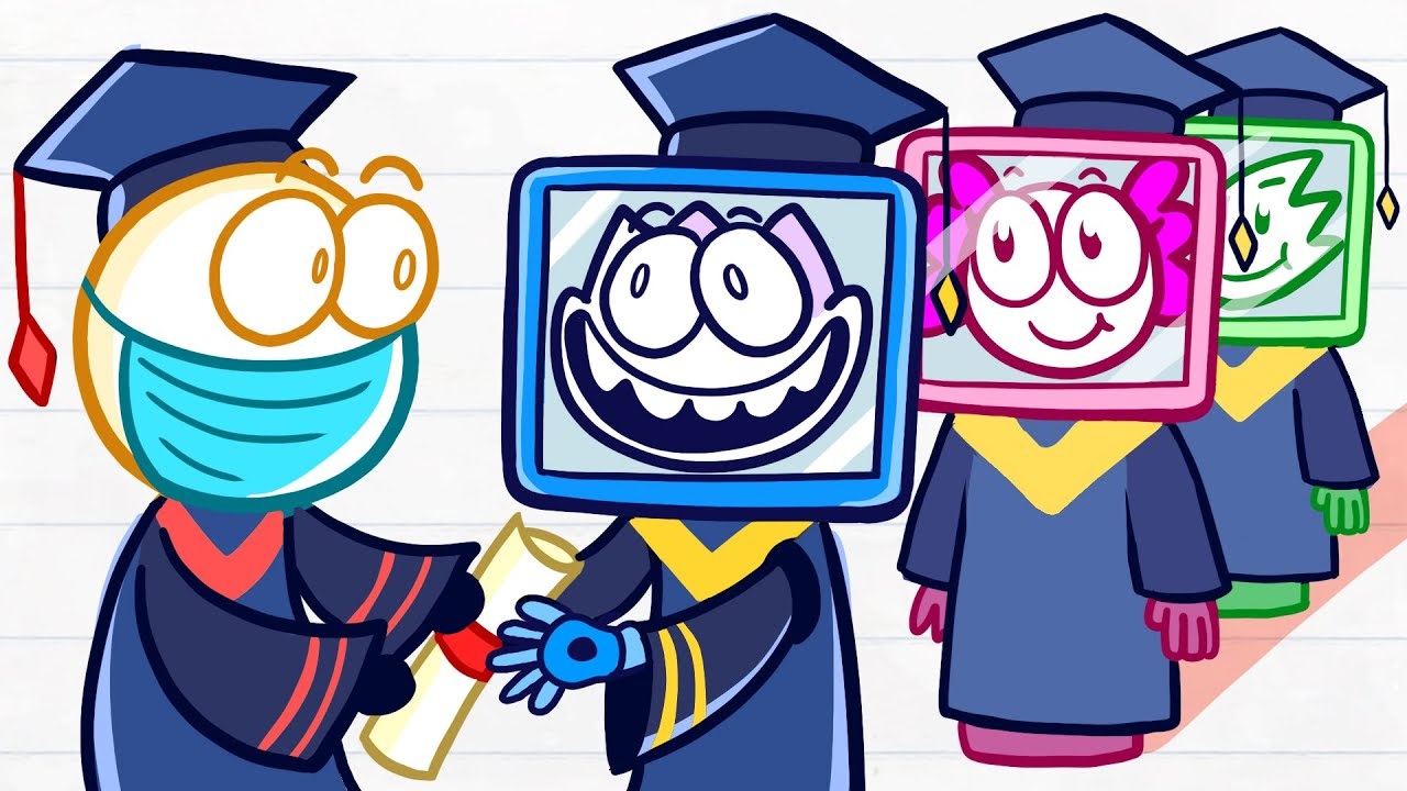 Max Gets His Digital Degree - Day of Career Short Animated Pencilmation
