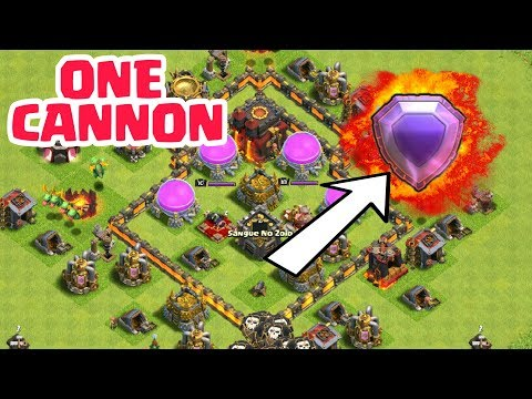 This player only one cannon and legend league 😂  clash of clans (hindi) sam1735