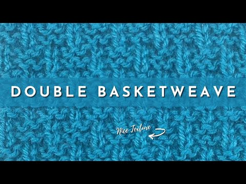How to Knit the Double Basket Weave Stitch ( english style )