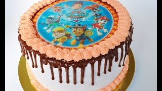 видео торт с фотографией